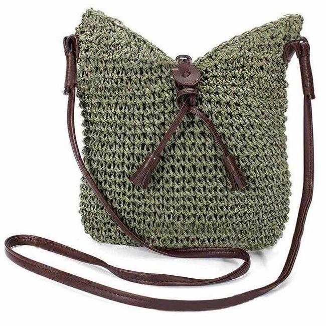 Crossbody kabelka v slaměném stylu - 4 barvy 1