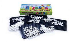 Abeceda Skladačka s písmenkami a číslami + podložky plast v krabici 31x13x4cm RM_49000116