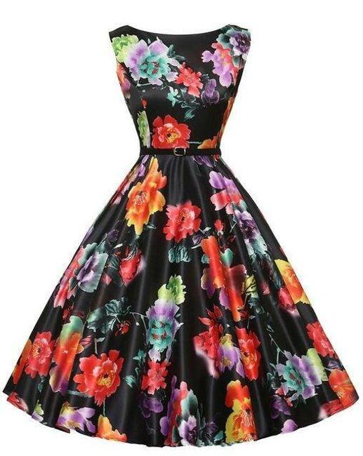 Retro šaty s délkou ke kolenům - 5 - velikost č. 6 1