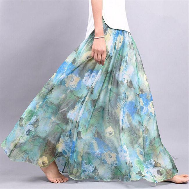 Lehoučká a vzdušná letní sukně - Varianta 2 - Délka sukně 90 cm 1