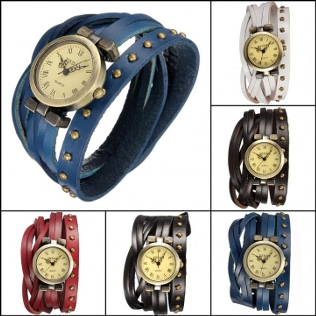 Damski retro zegarek w 4 kolorach 1