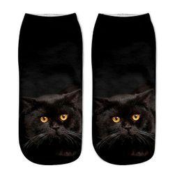 Dámske ponožky s motívmi mačičiek - variant 5