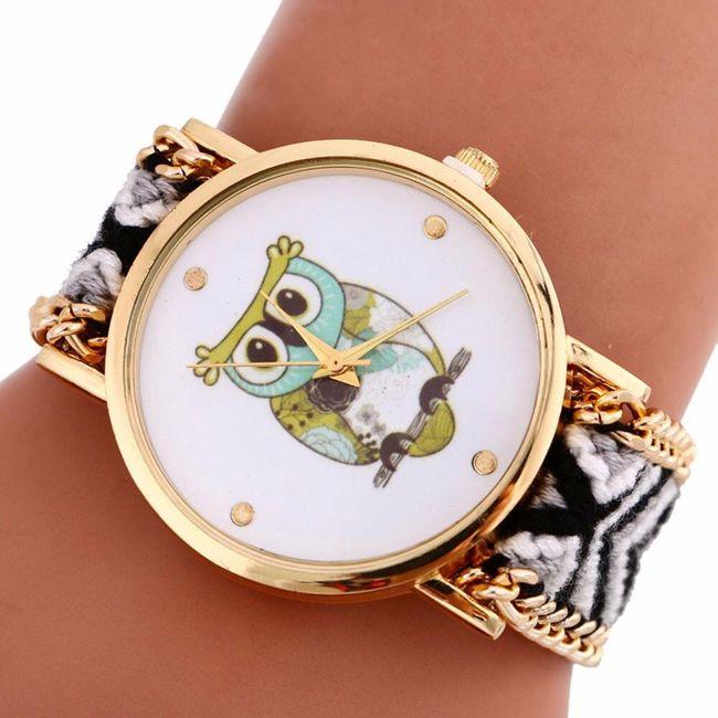 Tkané hodinky se sovou - 8 barev 1