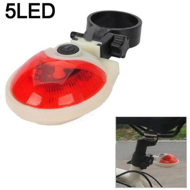 Zadní světlo (blikačka) 5 LED na kolo se sedmi režimy blikání/svícení 1
