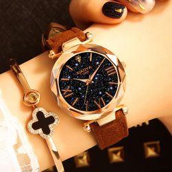 Дамски луксозен часовник с масивен циферблат - 9 цвята