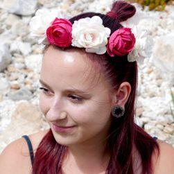 Kvetinkové čelenka - vínová PD_1537489