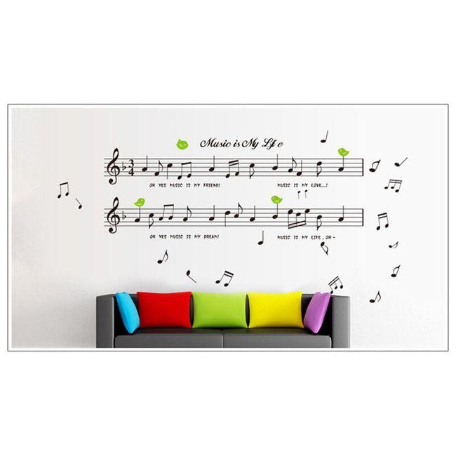 Samolepka na zeď Music in my life 1