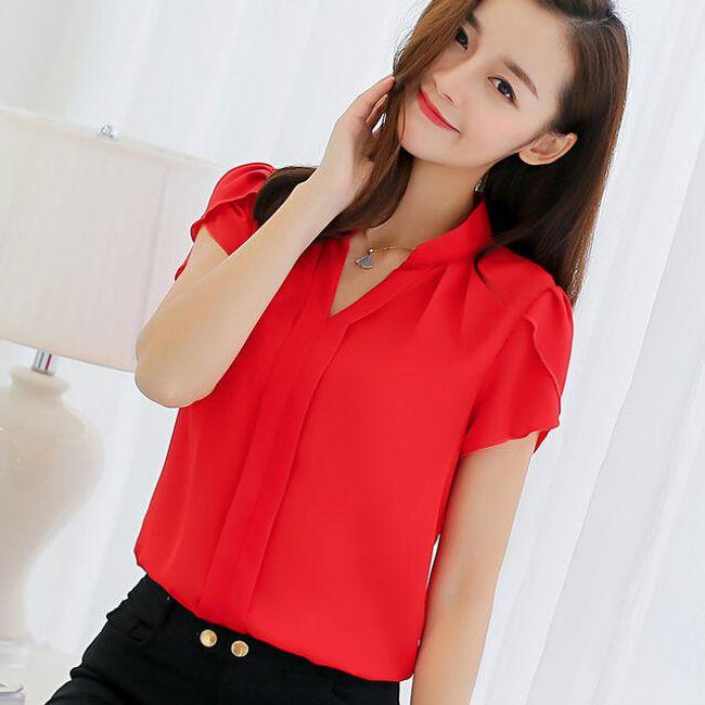 Elegantna bluza s kratkimi rokavi 1