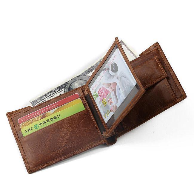 Férfi pénztárca kiemelkedésekkel - 2 szín