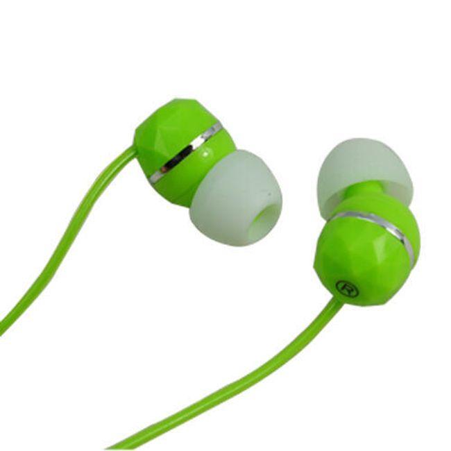 Stereo sluchátka 3,5mm - špunty, zelené 1