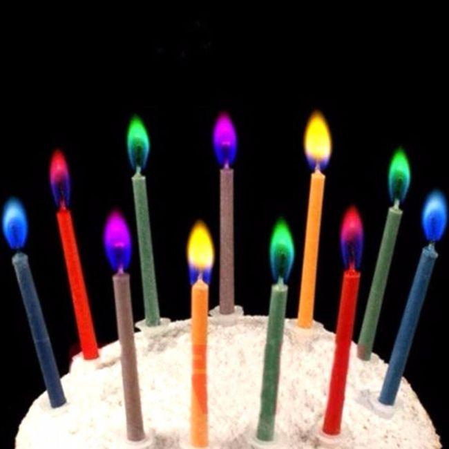 Svíčky narozeninové v barevném provedení - 6 ks 1