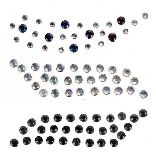 Dekorace na oční víčka - třpytivé kamínky 1