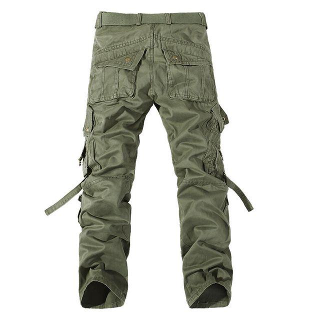 Pánské kalhoty s kapsami - Zelená - 11 1