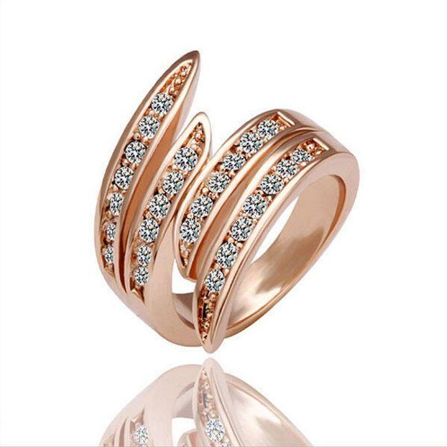 Gyűrű több soros strasszokkal 1