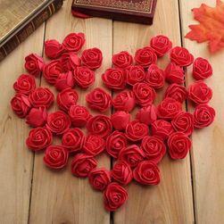 Sztuczne dekoracyjne róże - 50 szt / różne kolory