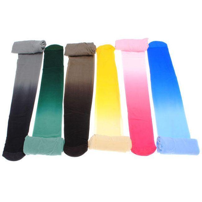 Módní duhové punčocháče - na výběr z 6 barev 1