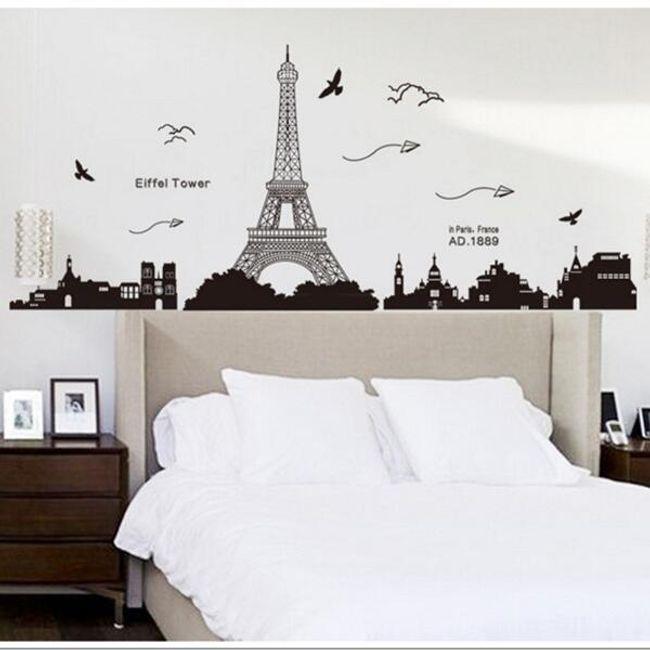Samolepka na zeď s Eiffelovou věží 1