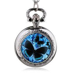 Džepni sat sa motivom leptira