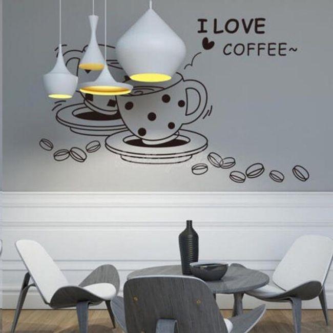 Настенная наклейка- I Love Coffee 1