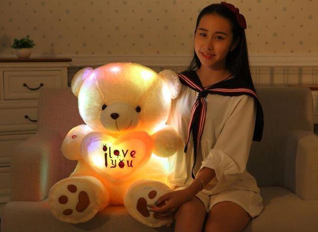 Velký plyšový medvídek se srdcem 1