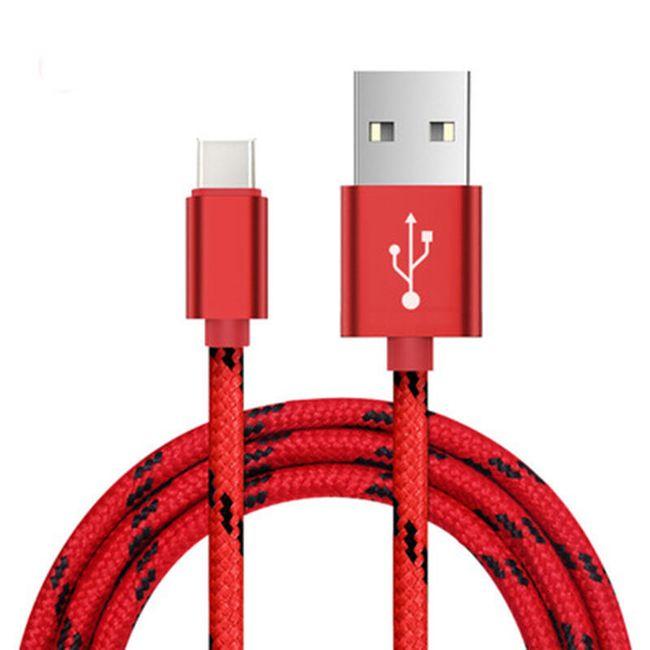 USB-C Datový kabel opletený nylonem 1