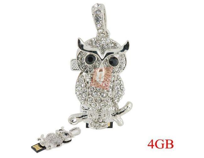 4GB Flashdisk - přívěsek sova 1