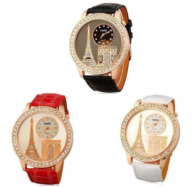 Damski zegarek na rękę z motywem Paryża w 3 kolorach 1