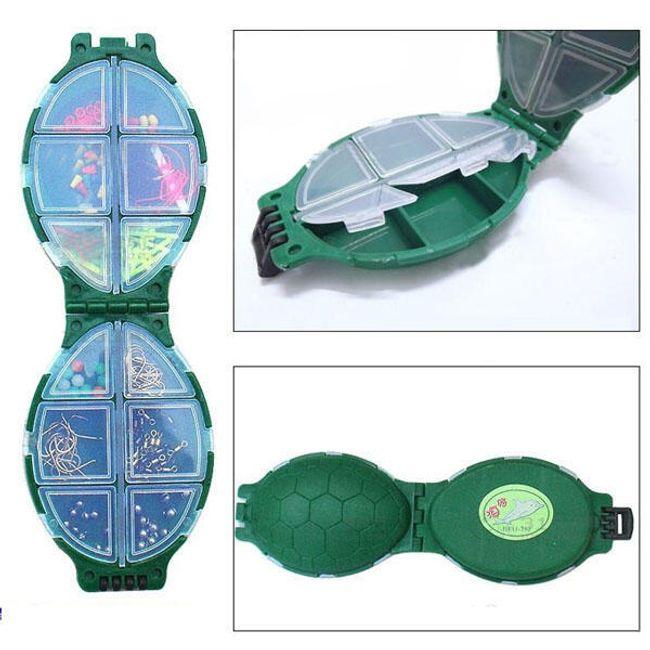 Praktický úložný box pro rybáře - tvar želvy 1