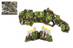Katonai pisztoly habgolyókhoz, műanyag 23cm + habgolyók 6db, tárral, dobozban 28x24x5cm RM_00850409