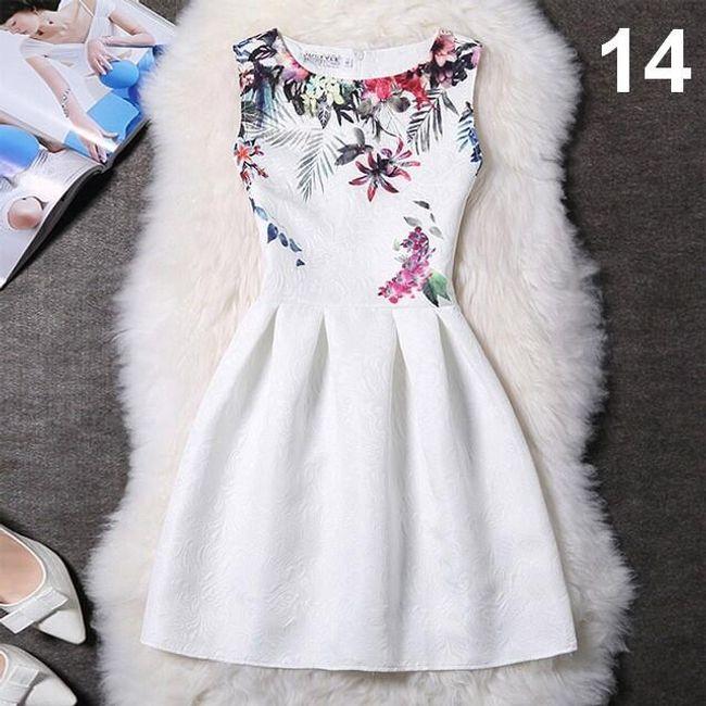 Elegantní šaty s originálními motivy - varianta 14, velikost 2 1
