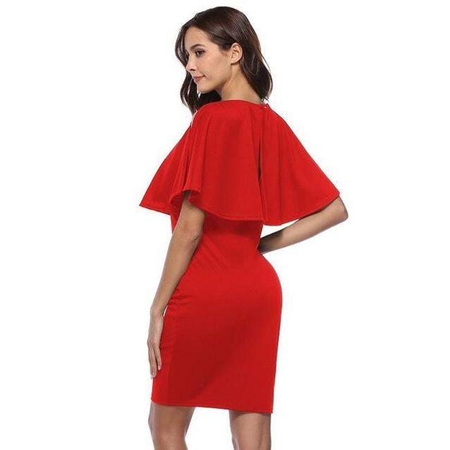 Női ruha fodorral - 4 szín
