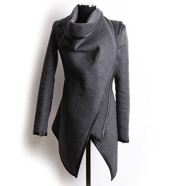 Dámský kabátek Vittoria v elegantním provedení - 3 barvy Šedá-velikost č. XL 1