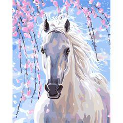 Festés számok alapján - fehér ló
