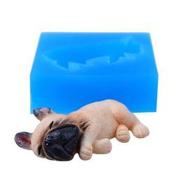 Szilikon forma - Alvó francia bulldog