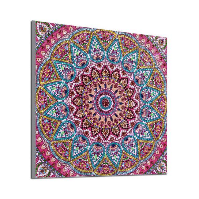 DIY obraz z kamínků Mandala 1