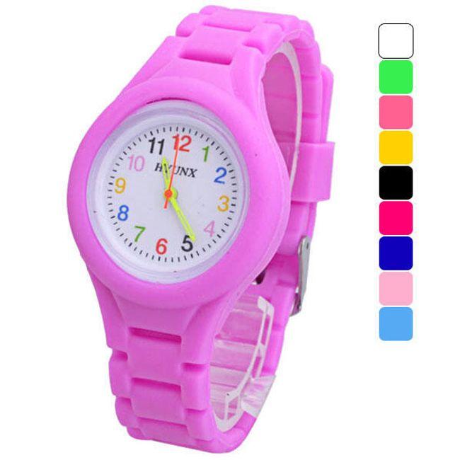 Gyerek szilikon óra színes számokkal - több szín 1