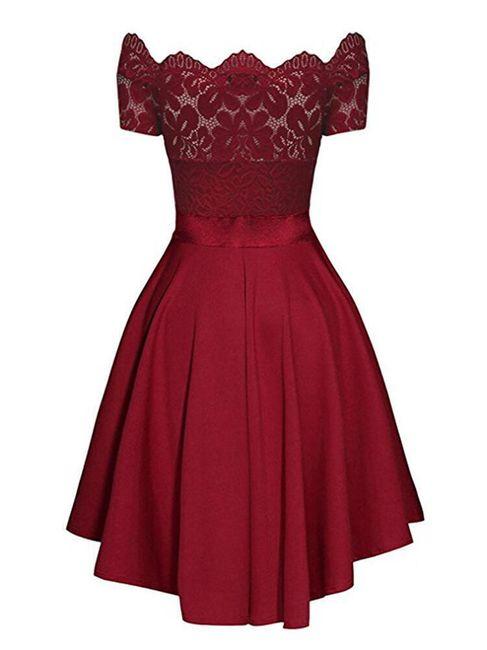 Společenské šaty s krajkou a mašličkou - 3 barvy 1