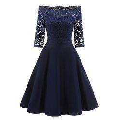 Vintage šaty s krajkou - 3 barvy