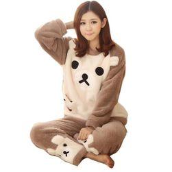 Pijama compleu flanelă - diverse variante