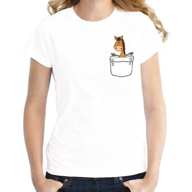Dámské tričko Pocket 1
