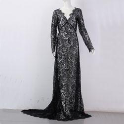 Svatební šaty s dlouhou vlečkou Černá_velikost č. 2