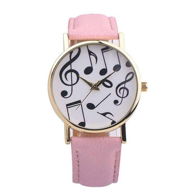 Dámské hodinky s hudebními motivy v mnoha barvách 1