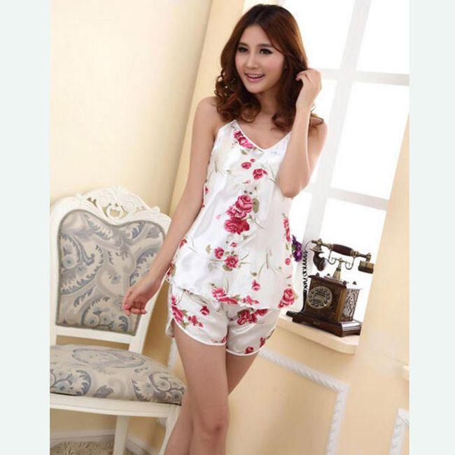 Damska piżama z różami 1