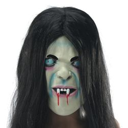 Halloweenská maska s vlasy ducha Sadako