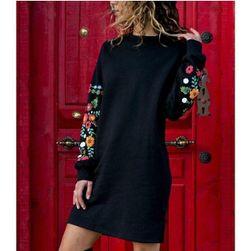 Dámské šaty s dlouhým rukávem QW269