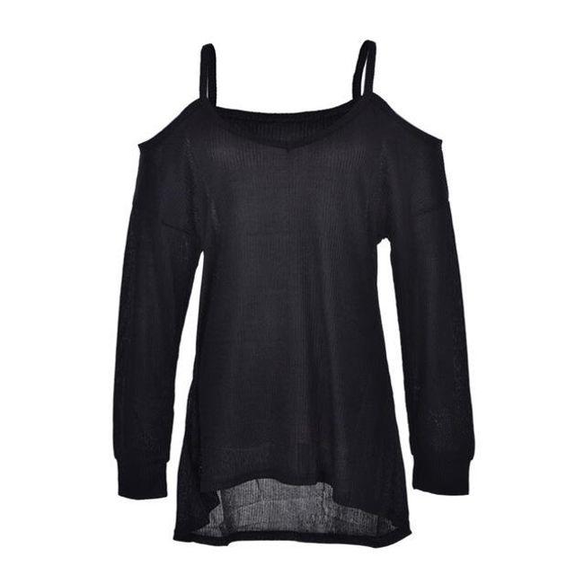 Nádherný top s vykrojenými rameny - Černá - velikost č. 6 1
