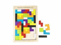 Dřevěné puzzle ála tetris