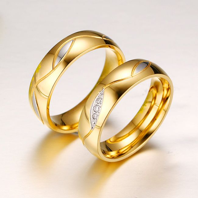 Zaručnički prsten zlatne boje 1