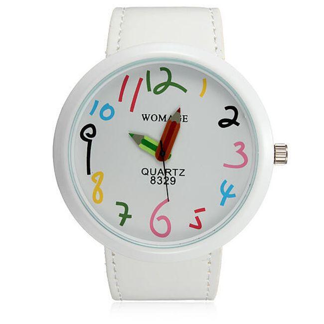 Damski zegarek  z wskazówkami w kształcie kredek 1