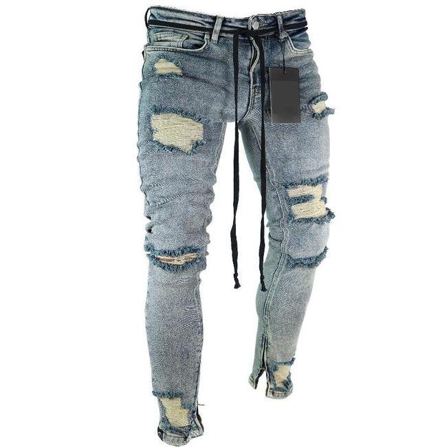 Pánské trhané džíny - 8 variant 1